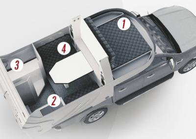 AZAR4 - Entwicklung eines Camper für 4x4 Pickup - Pickup Camper 400x284 - Wie viel Gepäck passt in einen kompakten Camper auf einem Pickup AZAR4? Pickup Camper