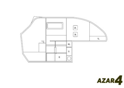 AZAR4 - Entwicklung eines Camper für 4x4 Pickup - 2 400x284 - Wie viel Gepäck passt in einen kompakten Camper auf einem Pickup AZAR4? Pickup Camper