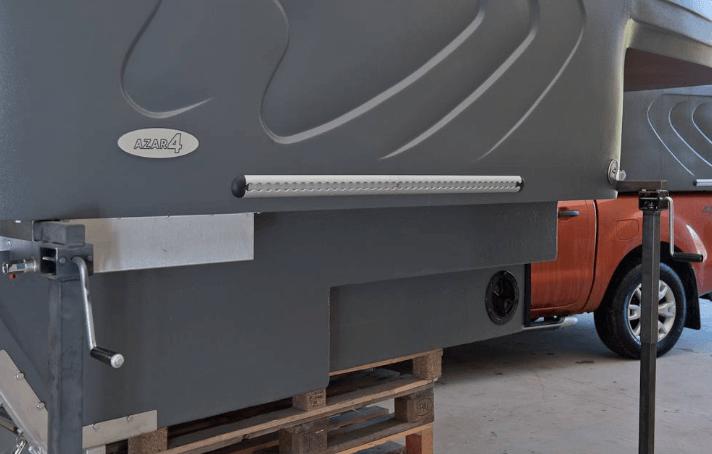 AZAR4 - Entwicklung eines Camper für 4x4 Pickup - 6 - Wie sieht die Montage und die Lagerung der AZAR4-Kabine auf dem Fahrzeug aus? AZAR4-Wohnkabine