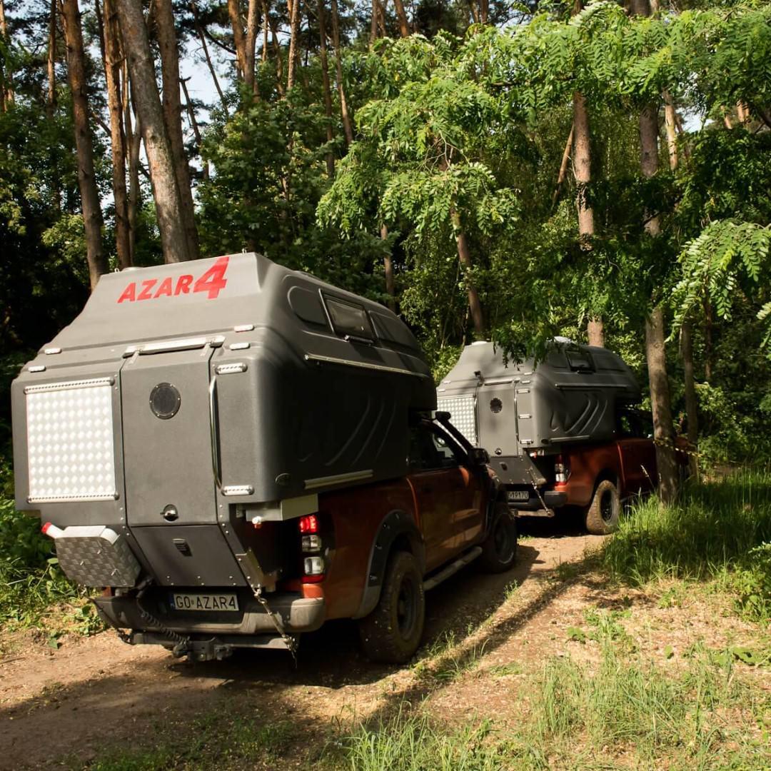 AZAR4 - Entwicklung eines Camper für 4x4 Pickup - DSC6437 D01 - Die Fahrtechnik mit einer mobilen Kabine für den Pickup. AZAR4 Wohnkabine auf dem Pickup