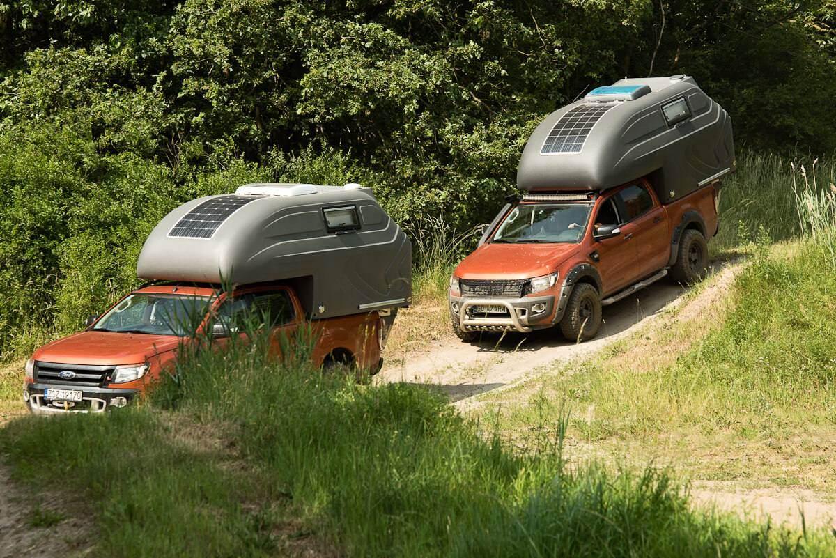 AZAR4 - Entwicklung eines Camper für 4x4 Pickup - DSC6493 D01 - Die Fahrtechnik mit einer mobilen Kabine für den Pickup. AZAR4 Wohnkabine auf dem Pickup
