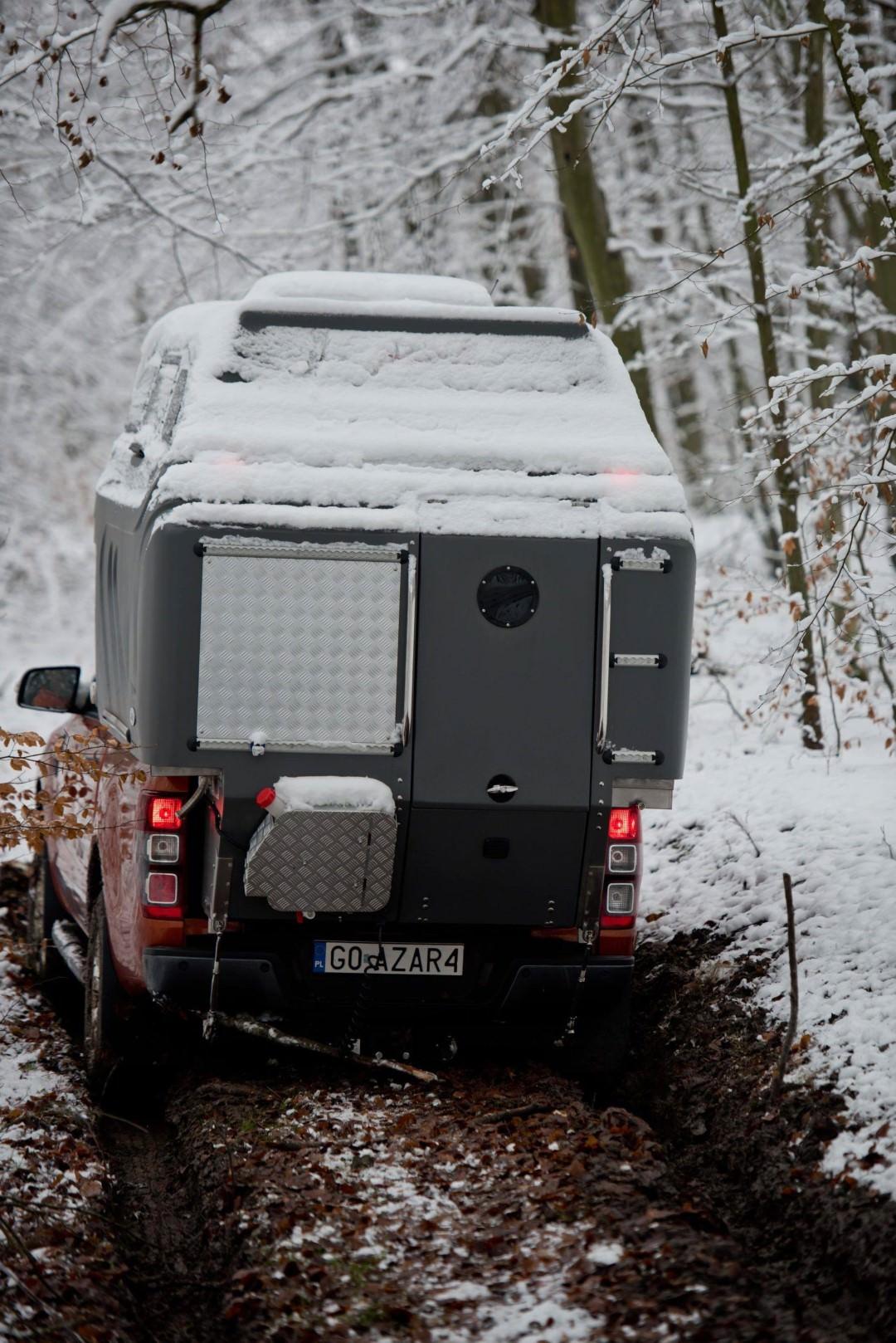 AZAR4 - Entwicklung eines Camper für 4x4 Pickup - AZAR4 01298 DSC5429 D01 min scaled - Anpassung der AZAR4-Absetzkabine an die winterlichen Wetterverhältnisse